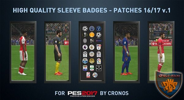 High Quality Sleeves Badges Patchs Season 16/17 v1 by Cronos