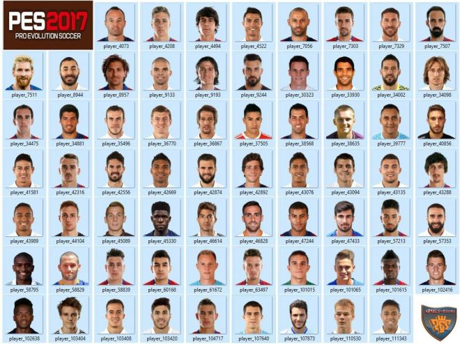 Лица патча PES 2017 LaLiga Pack Mini Face