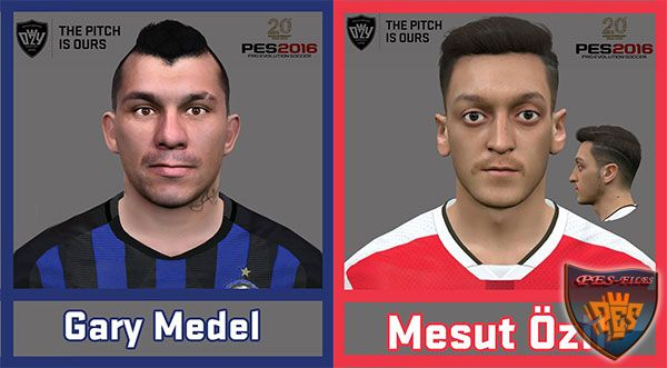Ozil and Gary Medel Face Pes 2016