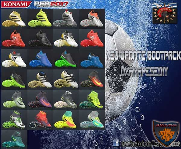 PES 2017 New Updated Boots Pack 2016/17