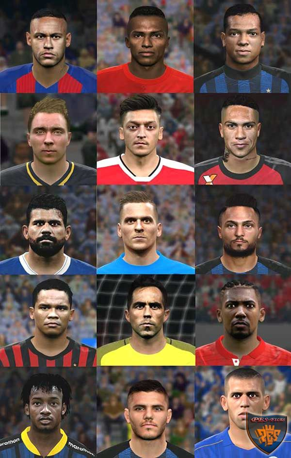 PES 2016 / PES 2017 Facepack V4 by Jonathan Facemaker
