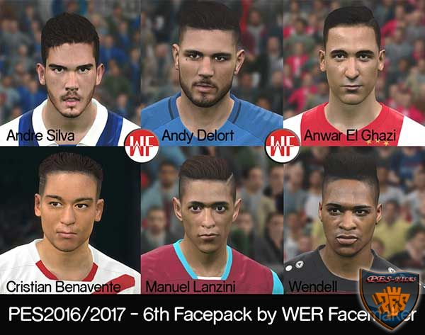 Pes 2017 6th Facepack by WER Facemaker