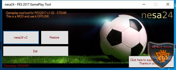 PES 2017 Patcher v.1.2 (06.11.2016) by nesa24