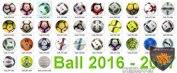 PES 2017 New Ball Season 2016/17 by peslover