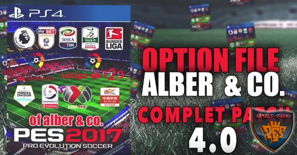 PES 2017 Total Patch 4.0 for PS4 by ALBER & CO