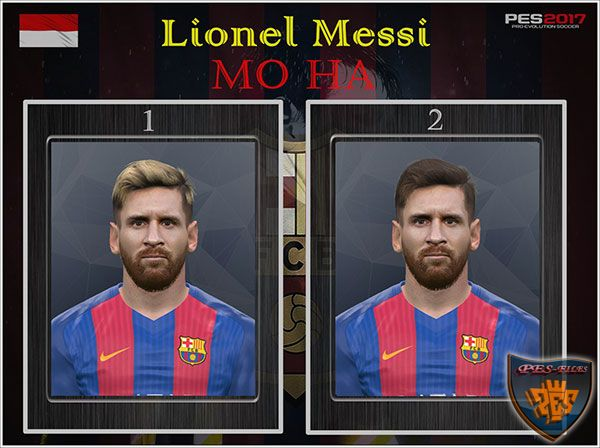 Pes 2017 Lionel Messi Face by Mo Ha