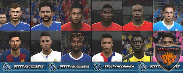 PES 2017 Face Pack Vol. 1 By Steet Facemaker
