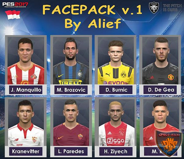 PES 2017 Facepack v.1 by Alief