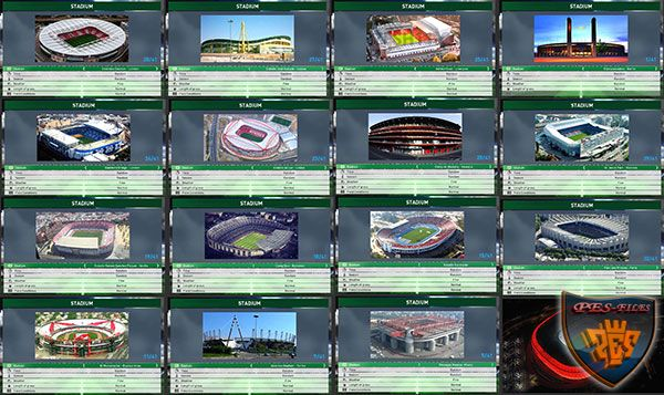 Стадионы патча PES 2017 Professional Patch Stadium Preview