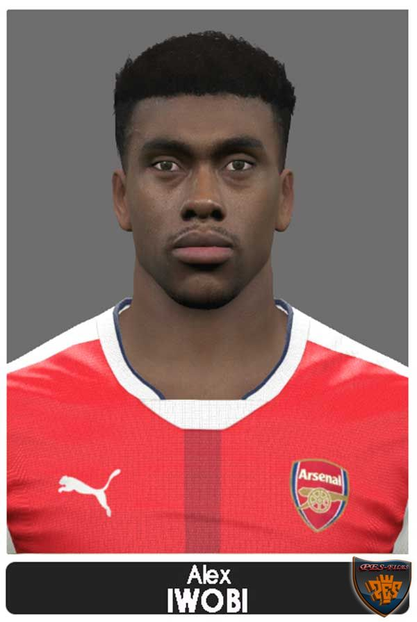 PES 2017 Alex Iwobi Face by Marcelo Facemaker