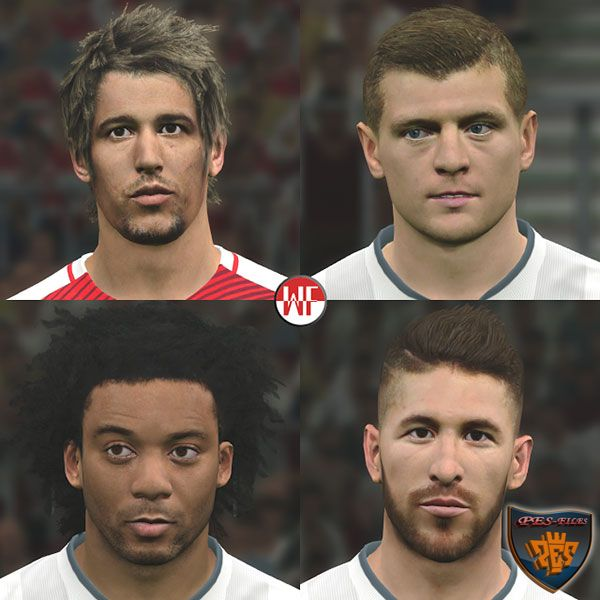 PES 2017 Real Madrid Facepack by WER Facemaker