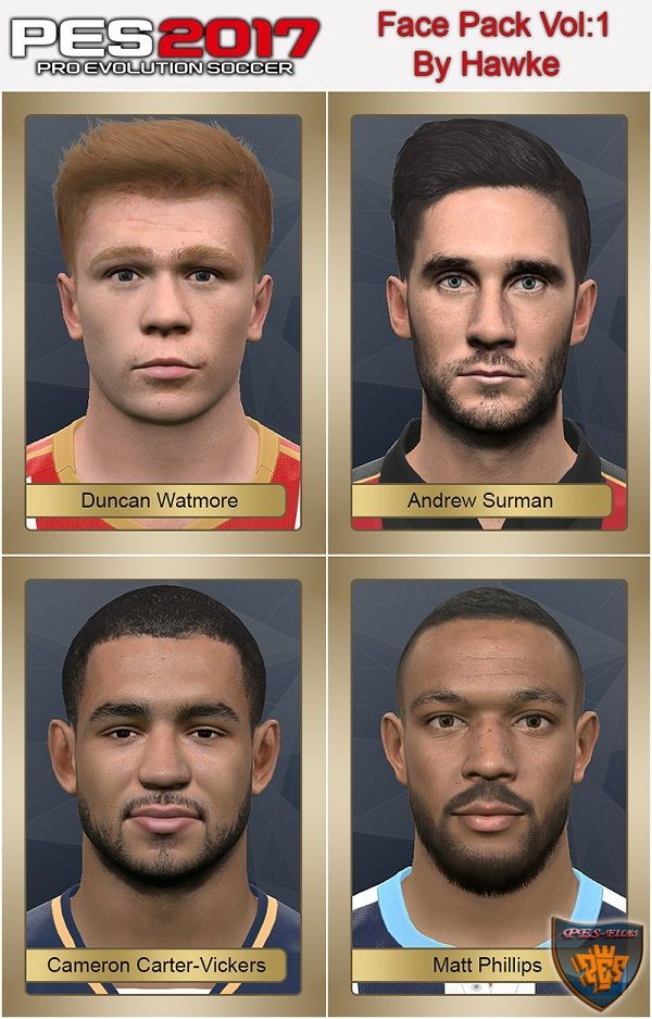 PES 2017 Face Pack Vol.1 by Hawke