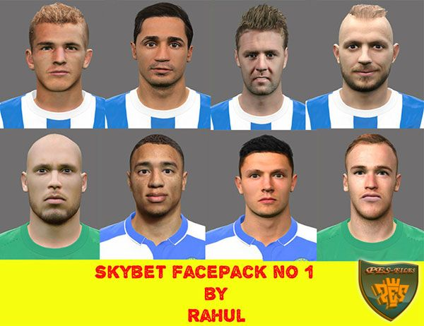 PES 2017 SKYBET FACEPACK NO 1 by RAHUL