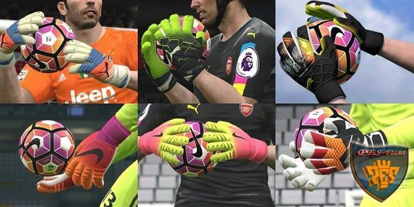 PES 2017 HD Goal Keeper Gloves by IDK