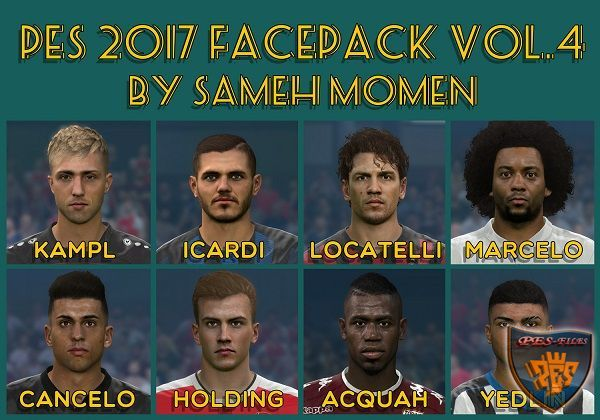 PES 2017 Facepack vol.4 by Sameh Momen