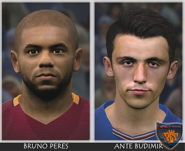 Pes 2017 Budimir and Bruno Peres Face
