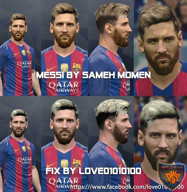PES 2017 Messi Face New fix by love01010100