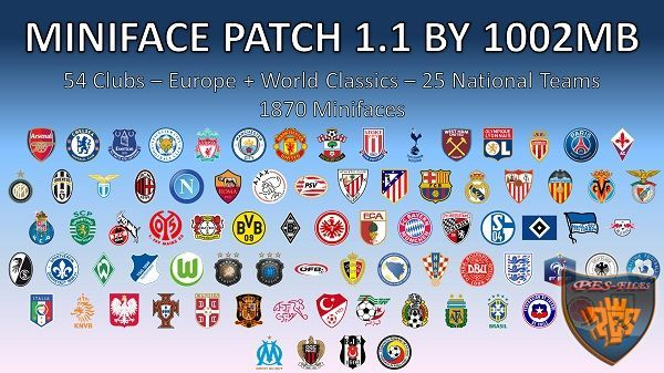 PES 2017 Miniface Patch 1.1 by 1002MB