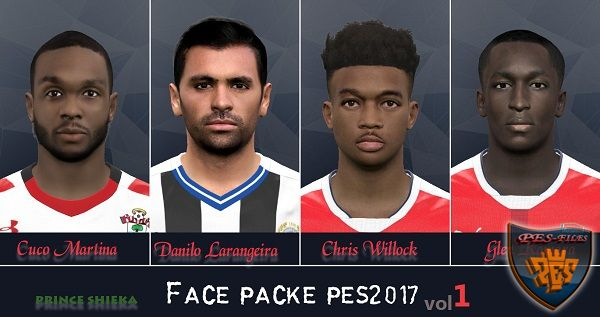 PES 2017 Face pack vol.1 by shieka