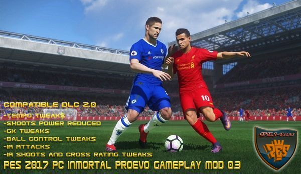 PES 2017 PC InMortal ProEvo Gameplay Mod 0.3 by Mortal