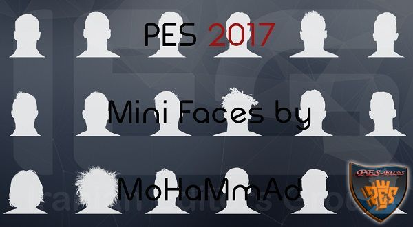 PES 2017 Real Mini faces By MoHaMmAd