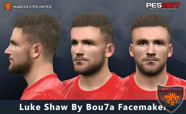 Pes 2017 Luke Shaw Face by Bou7a