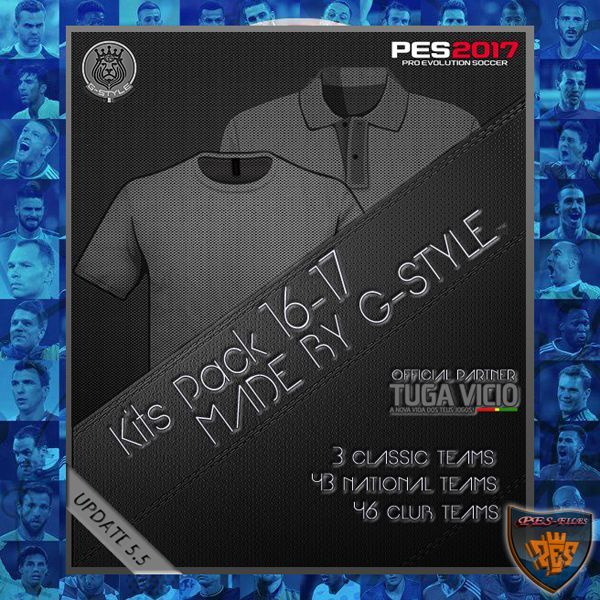 PES 2017 Kits Pack All In One Update v5.5 by G-Style