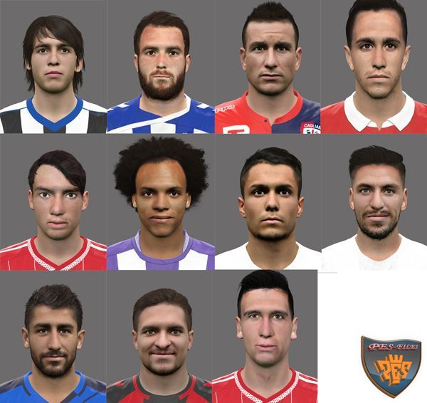 PES 2017 International Faces Pack 2 by rednik