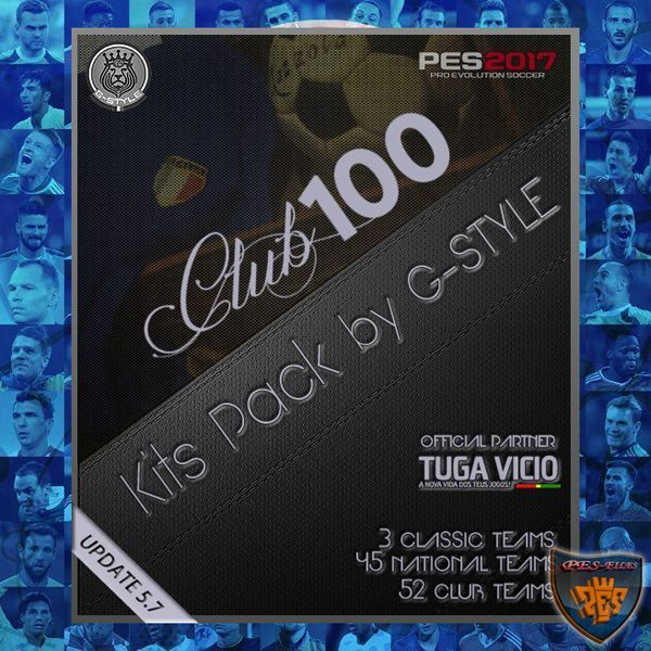 PES 2017 Kits Pack V5.7 Club 100 AIO by G-Style