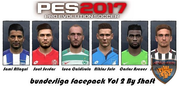 PES 2017 Bundesliga Facepack Vol 2 by Shafata