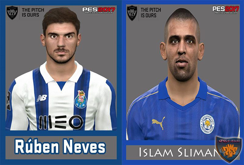 Pes 2017 Rúben Neves and Slimani Face
