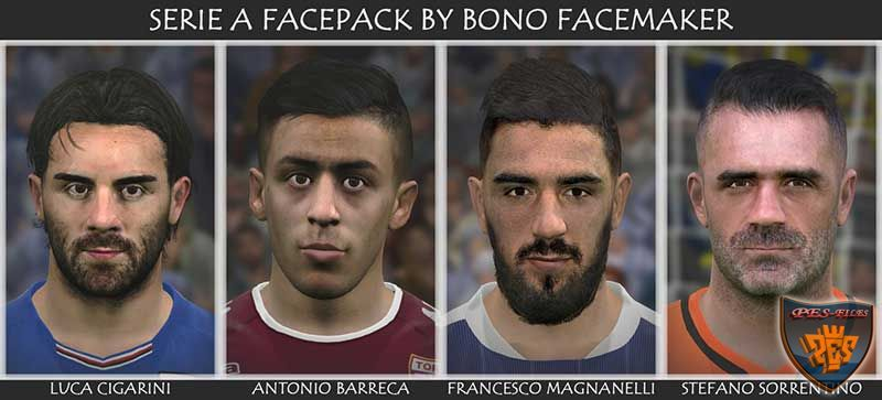 Pes 2017 Serie A Facepack by bono facemaker