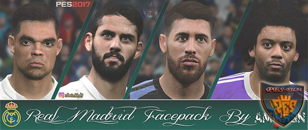 PES 2017 Real Madrid CF Face Pack by Amir.Hsn7