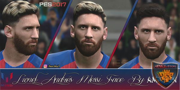 PES 2017 Leo Messi V.2 Face by Amir.Hsn7