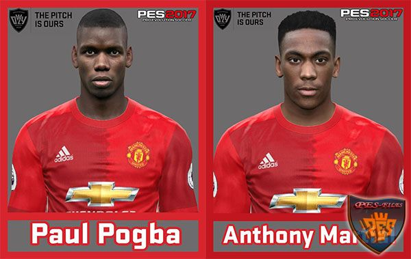 Pes 2017 Paul Pogba and Martial Face