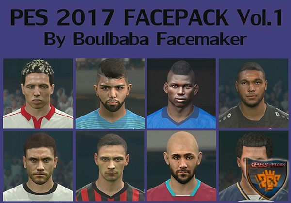 PES 2017 Face Pack vol.1 by Boulbaba