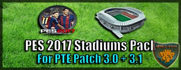 PES 2017 Stadiums Pack for PTE Patch
