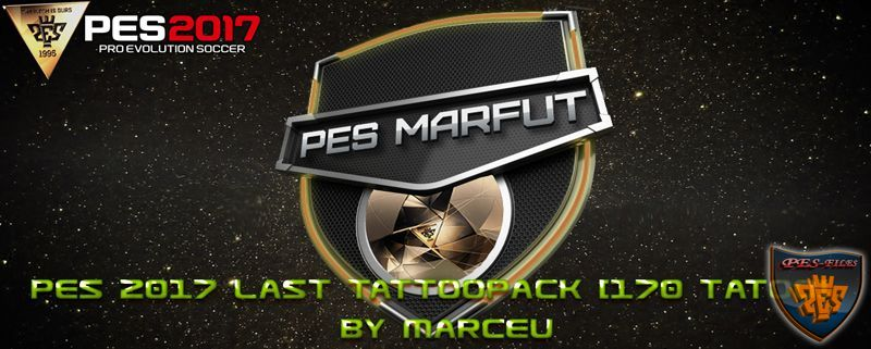 PES 2017 Last Tattoopack [170 tattoo] by Marceu