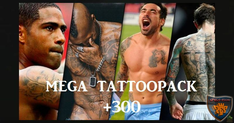 PES 2017 Mega TattooPack 351by Mahmoud