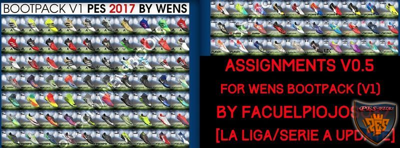 PES 2017 Assignments v0.5 for WENS Bootpack v1