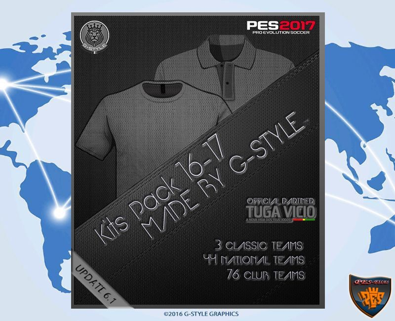 PES 2017 Kits Pack Update V6.1 AIO by G-Style