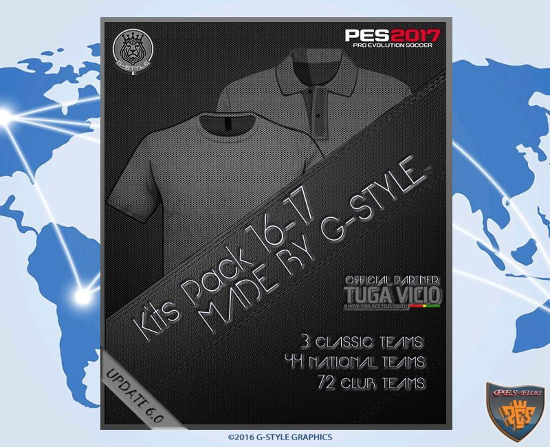 PES 2017 Kits Pack Update V6.0 AIO by G-Style