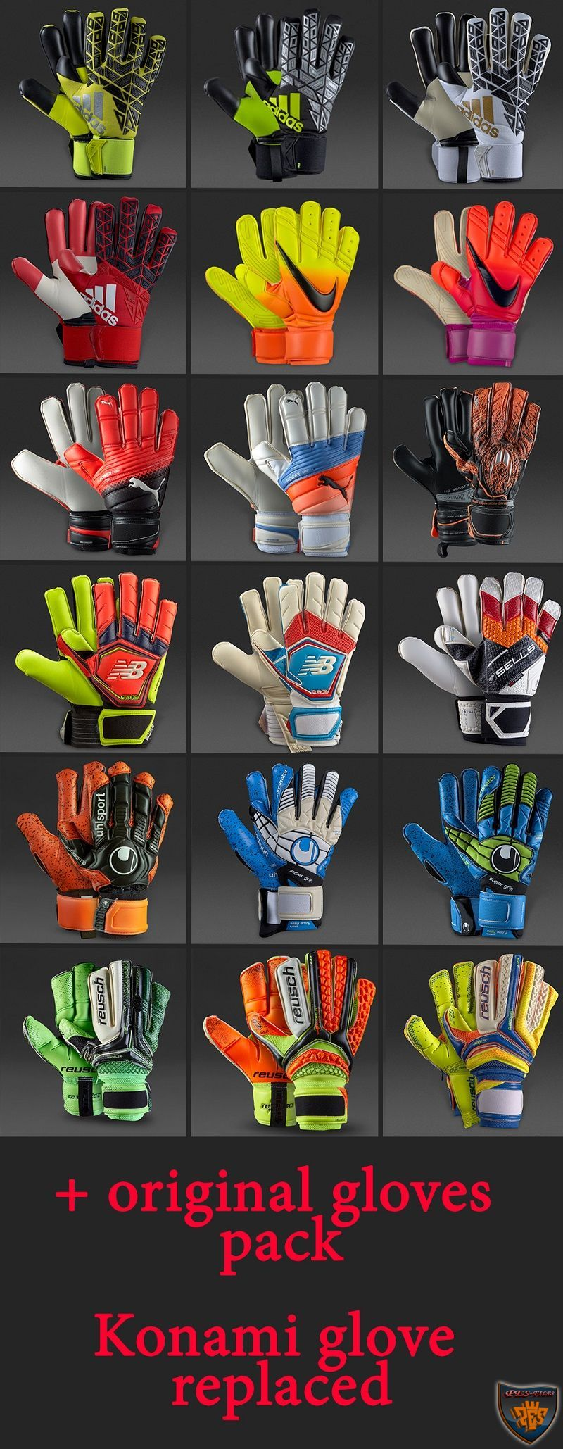 PES 2017 Goalkeeper Gloves Pack by FarhanA