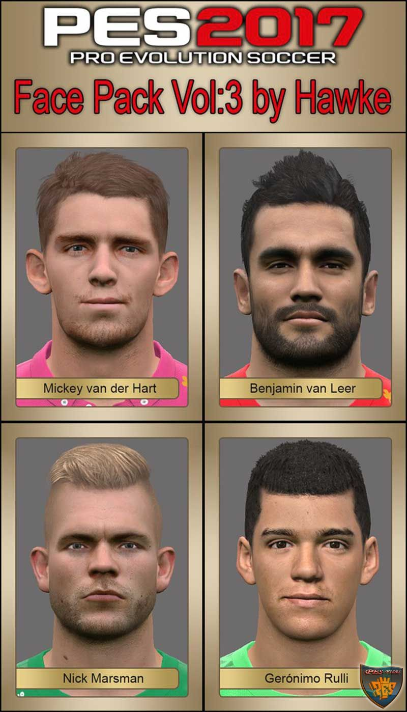 Pes 2017 Face Pack Vol:3 by Hawke