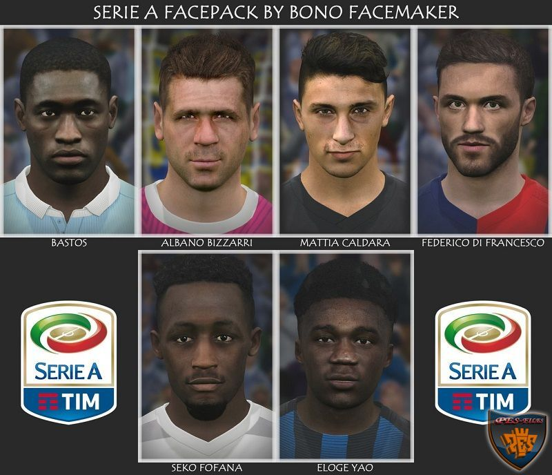 PES 2017 Next Facepack Serie A by Bono Facemaker