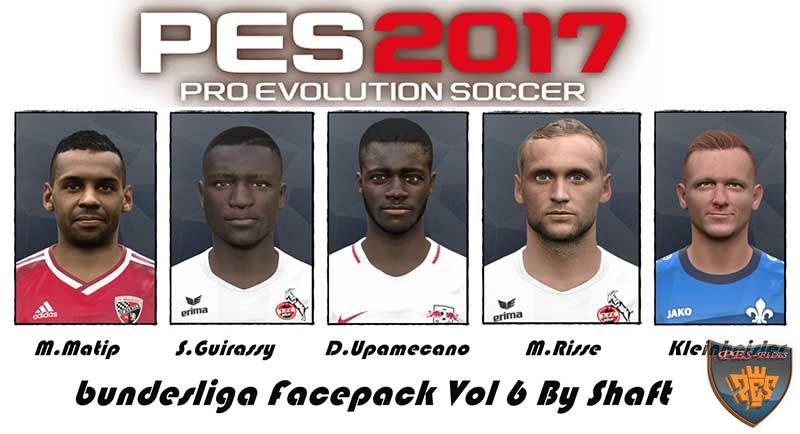 PES 2017 Bundesliga Facepack Vol 6 by Shaft
