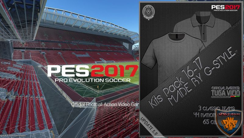 PES 2017 Kits Pack Update V5.9 AIO by G-Style