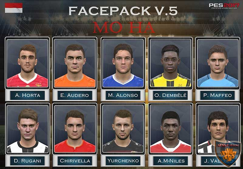 PES 2017 Face Pack vol. 5 by Mo Ha