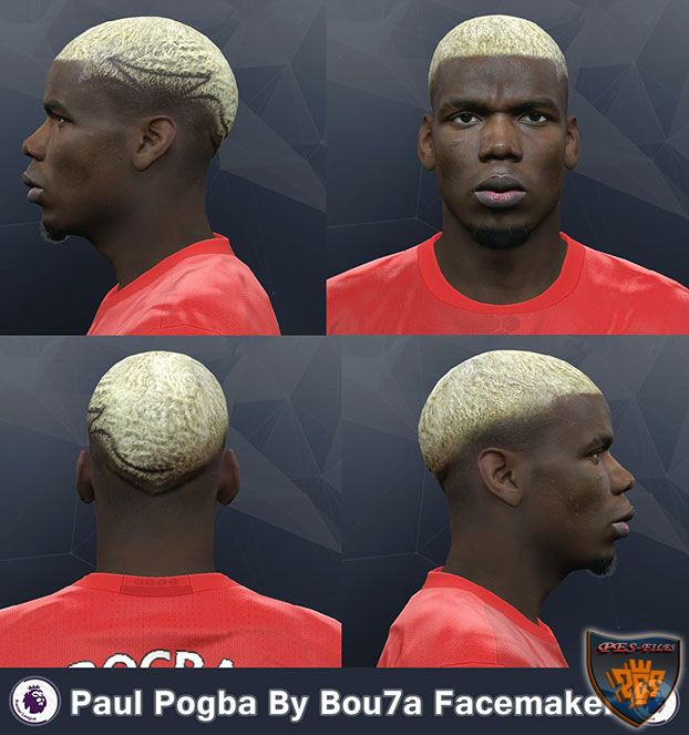 Paul Pogba yellow hair PES 2017