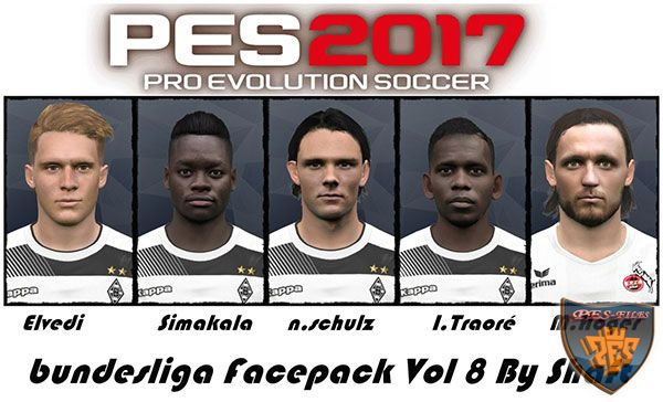 Pes 2017 Bundesliga Facepack Vol 8 by Shaf